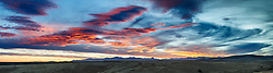 Dramatic sunset sky above Grand View, Ladder Ranch, west of Truth or Consequences, New Mexico, USA.