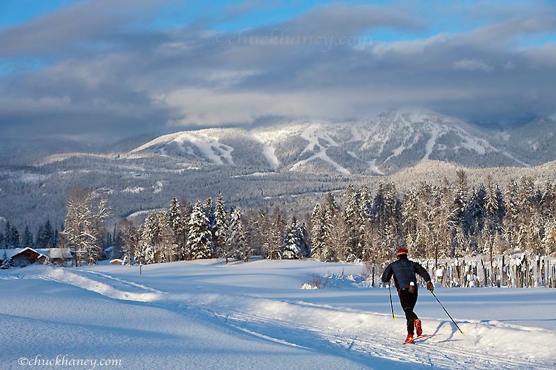 Cross country skiing at Whitefish Montana