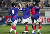 Fotball<br /> Frankrike v Slovenia U21<br /> Foto: Dppi/Digitalsport<br /> NORWAY ONLY<br /> <br /> FOOTBALL - UNDER 21 EUROPEAN CHAMPIONSHIP QUALIFAYING - GROUP 14  - FRANCE v SLOVENIA - 05/09/2006<br /> <br /> JOY FRANCE AFTER THE FLORENT SINAMA PONGOLLE'S GOAL