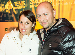 Andreja Klepac and Andrej Krasevec at Slovenian Tennis personality of the year 2016 annual awards presented by Slovene Tennis Association Tenis Slovenija, on December 7, 2016 in Siti Teater, Ljubljana, Slovenia. Photo by Vid Ponikvar / Sportida