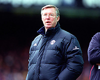 The Man Utd Manager Sir Alex Ferguson. Leicester City v Manchester United. FA Premiership, 14/10/00. Credit: Colorsport / Andrew Cowie.