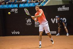 March 2, 2019 - Sao Paulo, Brazil - LASLO DJERE (SRB) in one of the semifinals during ATP 250 Brasil Open. (Credit Image: © Van Campos/Fotoarena via ZUMA Press)