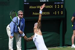 July 3, 2018 - Angleterre - Wimbledon - Polona Hercog Slovenie (Credit Image: © Panoramic via ZUMA Press)
