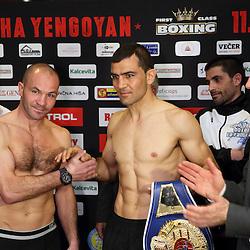 20150410: SLO, Boxing -  WBF Championship, Official Weighing of Dejan Zavec and Sasha Yengoyan