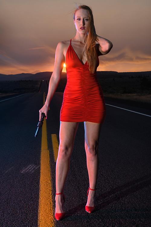 American Dreamscpes Highway 20 Red Dress V