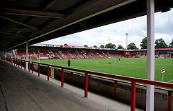 General views inside the stadium - Mandatory by-line: Nizaam Jones/JMP- 28/07/2018 - FOOTBALL - Jonny-Rocks Stadium - Cheltenham, England - Cheltenham Town v Walsall - Pre-season friendly