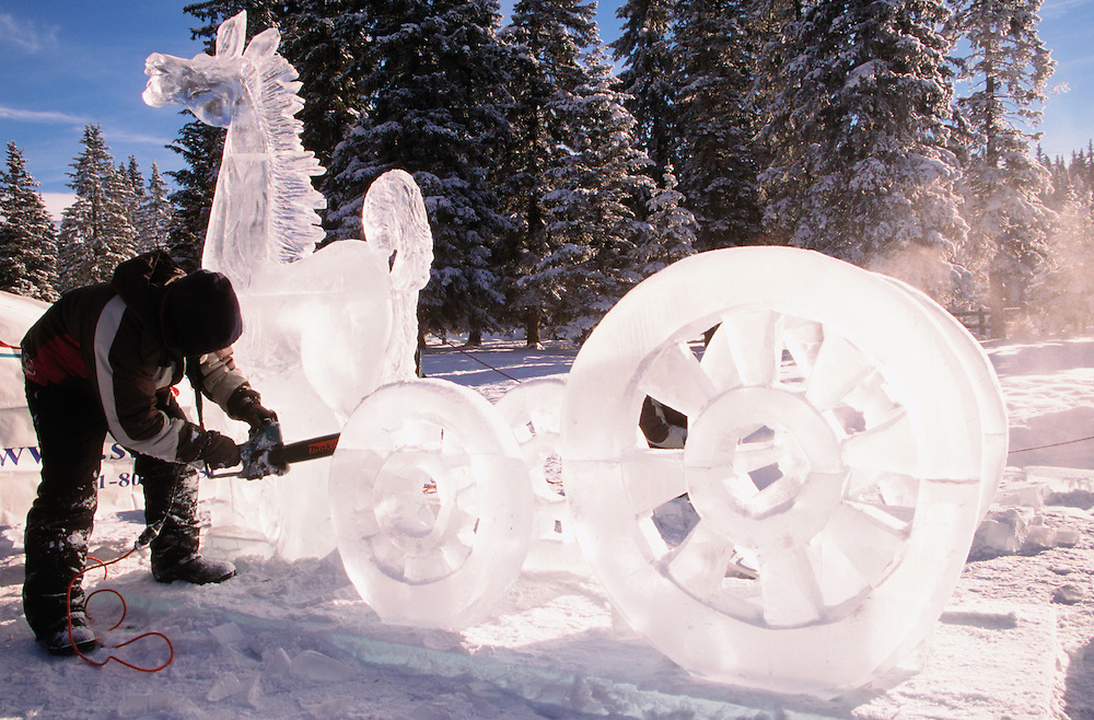 Ice Magic International Ice Sculpture Competition , Annual Winter Festival, Lake Louise, Alberta, Canada