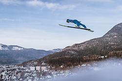 01.01.2021, Olympiaschanze, Garmisch Partenkirchen, GER, FIS Weltcup Skisprung, Vierschanzentournee, Garmisch Partenkirchen, Einzelbewerb, Herren, im Bild Artti Aigro (EST) // Artti Aigro of Estonia during the men's individual competition for the Four Hills Tournament of FIS Ski Jumping World Cup at the Olympiaschanze in Garmisch Partenkirchen, Germany on 2021/01/01. EXPA Pictures © 2020, PhotoCredit: EXPA/ JFK