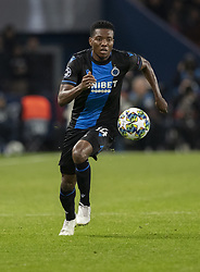 David OKEREKE from BRUBES In action during the UEFA Champions League Group A football match Paris Saint-Germain (PSG) v Club Brugge at the Parc des Princes stadium in Paris, France, on November 6, 2019. Photo by Loic BaratouxABACAPRESS.COM
