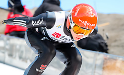 18.03.2017, Vikersundbakken, Vikersund, NOR, FIS Weltcup Ski Sprung, Raw Air, Vikersund, Team Skifliegen, im Bild Karl Geiger (GER) // Karl Geiger of Germany // during the Team Event of the 4th Stage of the Raw Air Series of FIS Ski Jumping World Cup at the Vikersundbakken in Vikersund, Norway on 2017/03/18. EXPA Pictures © 2017, PhotoCredit: EXPA/ Tadeusz Mieczynski
