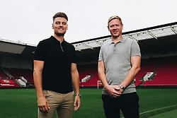 Bristol City Head Coach Dean Holden with new  signing Chris Martin - Rogan/JMP - 1903/09/2020 - Ashton Gate Stadium - Bristol, England - Sky Bet Championship.