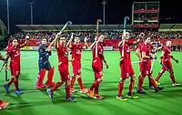 ANTWERP - BELFIUS EUROHOCKEY Championship  . Belgium v Spain (men) (5-0). Belgium celebrates the win. WSP/ KOEN SUYK