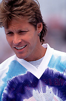Aug 22, 1996: Former NHL ice hockey player Ron Duguay during a taping of the Hollywood Hockey Cup at the '96 NHL Breakout in the parking lot south of the Santa Monica Pier in California. <br /> <br /> Ron is a retired Canadian professional ice hockey player and coach who played 12 seasons in the National Hockey League (NHL) from 1977 through 1989, and served four seasons as a minor league coach. He currently appears as an in-studio analyst during MSG Network's coverage of the New York Rangers.