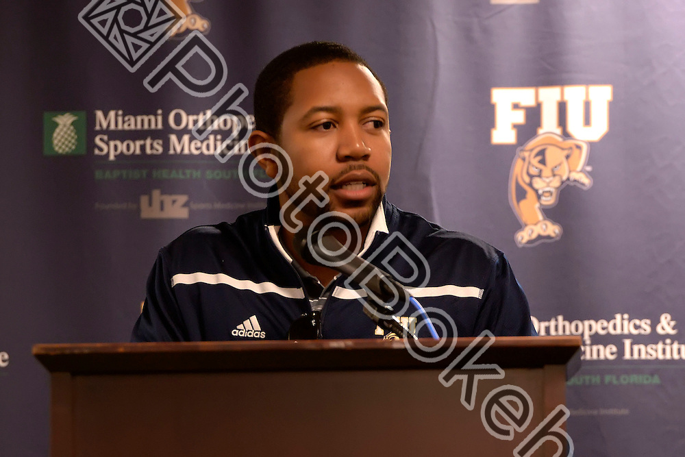 2016 February 03 - FIU football hosted Signing Day at the FIU Stadium Club, Miami, Florida. (Photo by: Alex J. Hernandez / photobokeh.com) This image is copyright by PhotoBokeh.com and may not be reproduced or retransmitted without express written consent of PhotoBokeh.com. ©2016 PhotoBokeh.com - All Rights Reserved