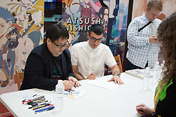 September 29, 2018 - Madrid, Madrid, Spain - A famous Manga artist..Tens of thousands comes to the most important Manga and Japanesse Culture of Madrid. (Credit Image: © Jorge Gonzalez/Pacific Press via ZUMA Wire)
