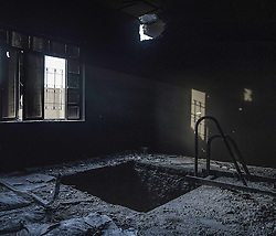 October 18, 2016 - Mosul, Iraq - NO SUBSCRIBTIONS ***..The battle of Mosul. A tunnel inside an abandoned house in the outskirts of Mosul, Iraq, recaptured from the Islamic State (IS) jihadists by Kurdish Peshmerga and Iraqi forces (Credit Image: © AftonbladetIBL via ZUMA Wire)