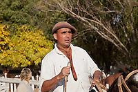 GAUCHO A CABALLO, FERIA ESPECIAL EN CARMEN DE ARECO, PROVINCIA DE BUENOS AIRES, ARGENTINA