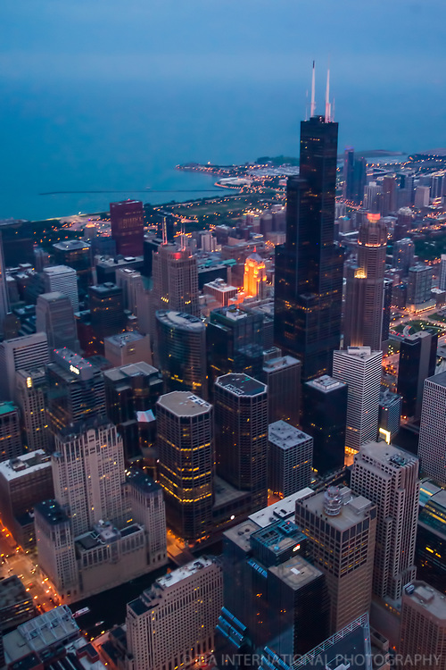 Willis Tower & Lake Michigan