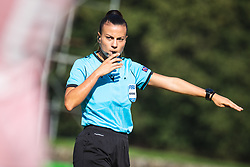 Main referee Zulema Gonzales Gonzales during football match between ZNK Pomurje and FC Nike in 2nd Round of UWCL qualifying 2019/20, on Avgust 10, 2019 in Sportni Park Beltinci, Beltinci, Slovenia. Photo by Blaž Weindorfer / Sportida