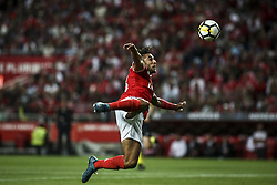 August 9, 2017 - Lisbon, Portugal - Benfica's forward Eduardo Salvio in action during the Portuguese League  football match between SL Benfica and SC Braga at Luz  Stadium in Lisbon on August 9, 2017. (Credit Image: © Carlos Costa/NurPhoto via ZUMA Press)
