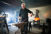 Sculptor Paddy Murray in his workshop at Kilkee Forge. Photograph by Eamon Ward (For 1916 commemoration feature)