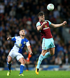 Kevin Long of Burnley wins a header - Mandatory by-line: Matt McNulty/JMP - 23/08/2017 - FOOTBALL - Ewood Park - Blackburn, England - Blackburn Rovers v Burnley - Carabao Cup - Second Round