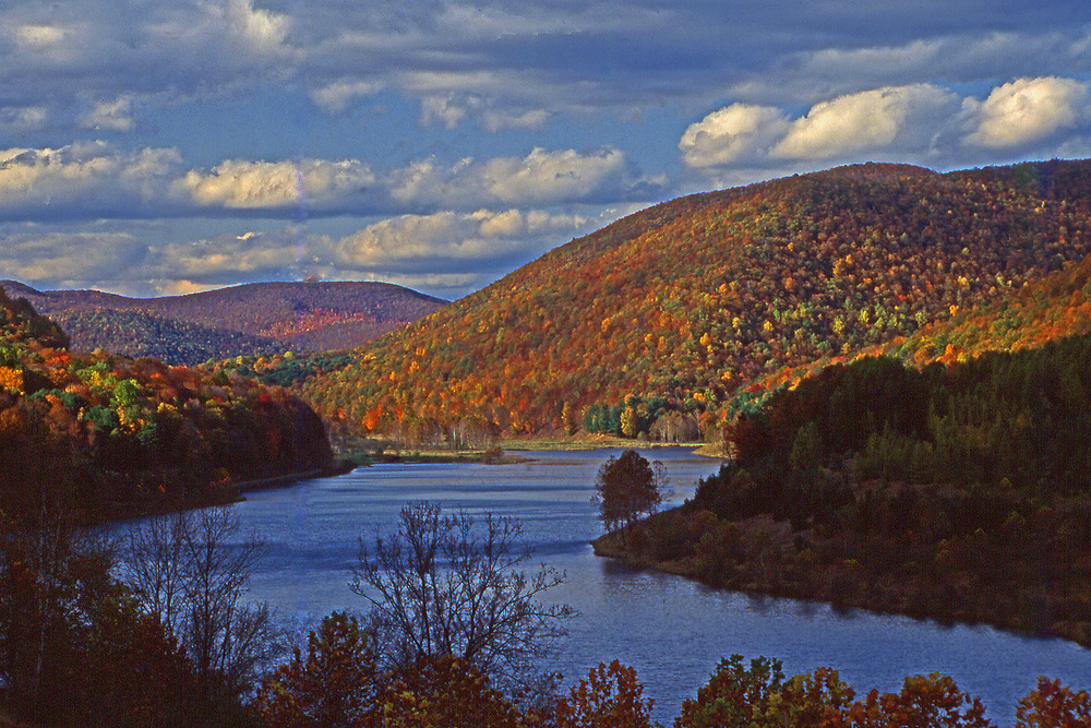 Autumn, Sinnemahoning State Park, and reservoir, Cameron Co., PA