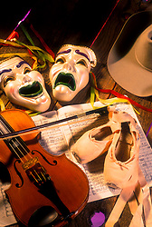 Stock photo of stage props used for theater