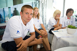 Robert Zbogar at press conference of Slovenian swimmers before World Championships in Rome, on July 23 2009, in Kranj, Slovenia. (Photo by Vid Ponikvar / Sportida)