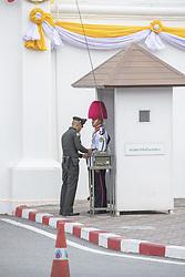 Last Preparation before the coronation ceremony at Royal Palace in Bangkok, Thailand, on May 04, 2019. Coronation of the King of Thailand, Rama X, His Majesty King Maha Vajiralongkorn Bodindradebayavarangkun, Bangkok, Thailand. Photo by Loic Baratoux /ABACAPRESS.COM