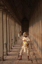 Monkey dancer at Angkor Wat