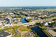 Nederland, Noord-Brabant, Den Bosch, 23-08-2016; spoorbruggen over de Dieze, in te noorden van Den Bosch<br /> Bridges, Den Bosch North.<br /> <br /> luchtfoto (toeslag op standard tarieven);<br /> aerial photo (additional fee required);<br /> copyright foto/photo Siebe Swart