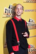 Premiere van de film Ron Goossens: Lowbudget Stuntman in Pathe Arena, Amsterdam.<br /> <br /> Op de foto:  Flip van der Kuil