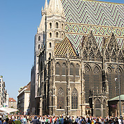 Stephansdom cathedral on stephansplatz in Vienna