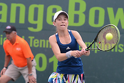 December 10, 2016 - Plantation, Florida, United States - KATIE VOLYNETS of the United States in the girls 16 and under final in the Metropolia Orange Bowl International Tennis Championship in Plantation Florida (Credit Image: © Christopher Levy via ZUMA Wire)