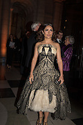 Salma Hayek, Alexander McQueen: Savage Beauty Gala, Victoria and Albert Museum, and A. 12th March 2015