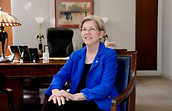 Senator Elizabeth Warren of Massachusetts meets with Supreme Court nominee Merrick Garland , chief judge of the D.C. Circuit Court, April 14, 2016 on Capitol Hill in Washington, DC, USA. Garland continued to visit senators after being nominated by President Barack Obama to succeed the late Justice Antonin Scalia on the high court. Photo by Olivier Douliery/ABACAPRESS.COM