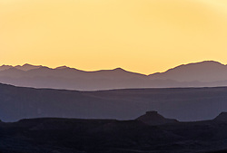 Sunset view toward Terlingua from Big Bend National Park, Texas, USA.