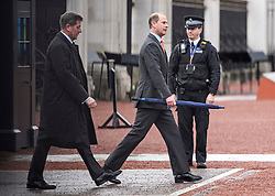 © Licensed to London News Pictures. 26/11/2019. Windsor, UK. PRINCE EDWARD The Earl of Wessex, brother of Prince Andrew The Duke of York, is seen arriving at Buckingham Palace in London. A number of financial backers for the Duke of Yorks's charities and businesses withdrew their support following reaction to an interview on Prince Andrew's relationship with American financier Jeffrey Epstein. Photo credit: Ben Cawthra/LNP
