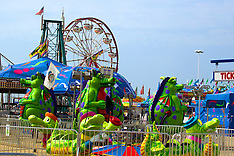 Carnival Rides, Kiosks, Trailers, etc. Royalty Free Stock Images
