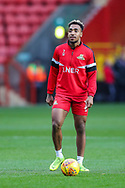 Doncaster Rovers forward Mallik Wilks (7) warms up prior to the The FA Cup 2nd round match between Charlton Athletic and Doncaster Rovers at The Valley, London, England on 1 December 2018. Photo by Toyin Oshodi