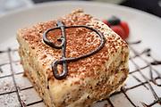 Photograph of Tiramisu taken at an Italian Restaurant as part of their advertising campaign and menu items