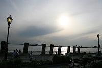 Sunset on Hudson River, New York, USA