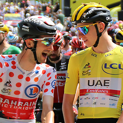 LIBOURNE (FRA) CYCLING: July 16<br /> 19th stage Tour de France Mourenx-Libourne<br /> Wout Poels, Tadej Pogacar