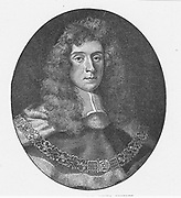 George Darell Jeffreys, lst Baron Jeffreys (1645-1689) English lawyer and jurist. Presided at the Bloody Assize at Taunton after the failure of the Monmouth Rebellion in 1685. Engraving.