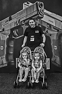 Father with his twins at the 2018 NRA Convention in Dallas.