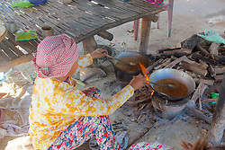 Cooking At Roadside Stand