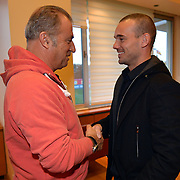 Inter Milan Ex Dutch midfielder, Turkish soccer club Galatasaray new player Wesley Sneijder, his arrival at the Florya Metin Oktay Sports Center in Istanbul Turkey on Monday 21 January 2013. Galatasaray' head coach Fatih Terim with Wesley Sneijder. Galatasaray, Inter Milan Dutch midfielder played with a three and a half year deal gave oWesley Sneijder. Photo by TURKPIX