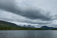 View over Tarraure lake in Tarra Valley along Padjelantaleden Trail, Lapland, Sweden