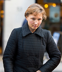 "©  London News Pictures. 28/01/2016. London, UK. MARINA LITVINENKO, wife of murdered Russian agent Alexander Litvinenko, arrives at The Home Office in London ahead of private talks with British home secretary Theresa May. The meeting comes a week after an official inquiry into her husband's death concluded that his killing was ""probably approved"" by Russian president Vladimir Putin. Photo credit: Ben Cawthra/LNP"